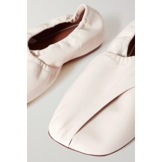 Donna leather ballet flats White 7QVBYH9RQ
