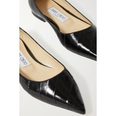 Love glossed-eel ballet flats Black QWY5L2P6P