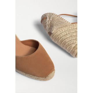 + NET SUSTAIN Carina 80 suede wedge espadrilles Camel For Sale 8NXRQ207A
