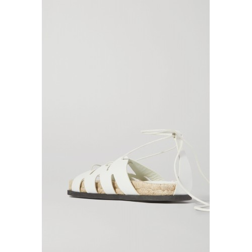 + Space for Giants Yasmine leather espadrille sandals Off-white the best 6UUTZJPMB