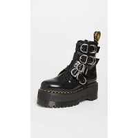Dr. Martens Womens Shoes Jadon Max HDW 4 Strap Boots Black Buttero For Snow DRMAR30486
