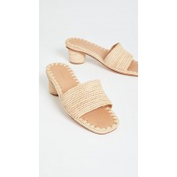 Carrie Forbes Women Bou Heeled Mules Natural  CFORB30047