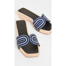 Ancient Greek Sandals Womens x Zeus + Dione The Harness Clogs Navy/Celeste in store AGSAN30418