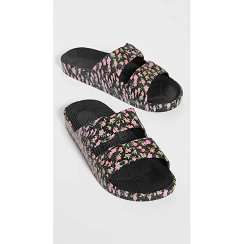 Freedom Moses Shoes Moses Two Band Slides Pop Bloom boutique FMOSE30043
