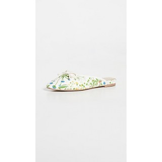 Villa Rouge Shoes Floral Ballerina Mules White Multi nice VROUG30168