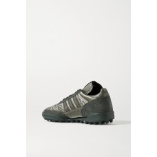 + Craig Green Kontuur III embroidered reflective shell and suede sneakers Gray V2ZND1IPT
