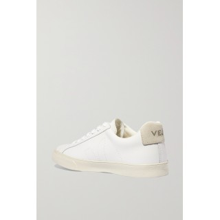 + NET SUSTAIN Esplar suede-trimmed leather sneakers White 5C0FW2OR6