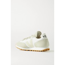 + NET SUSTAIN Rio Branco leather-trimmed suede and mesh sneakers White On Sale MLY86UP76