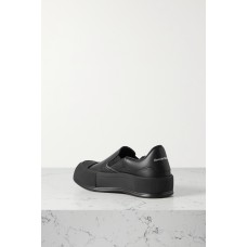 Leather slip-on exaggerated-sole sneakers Black Best 179MLEDLK