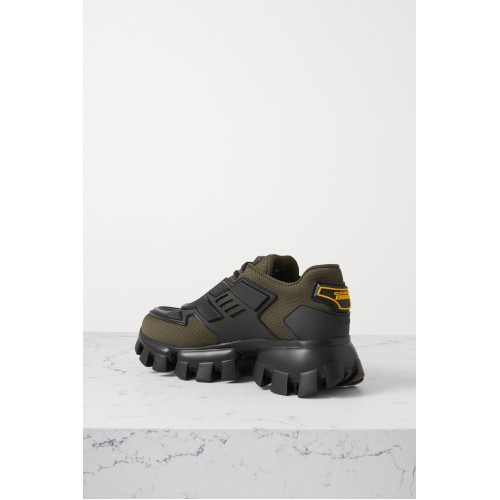 Thunder mesh and rubber sneakers Army green Business Casual 1VVJCGGKG