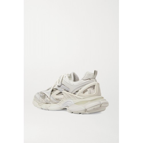 Track 2 logo-detailed metallic mesh and rubber sneakers White Clearance G19ITR2HZ