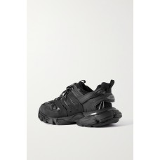 Track logo-detailed mesh and rubber sneakers Black Selling Well CX9T0XUWF