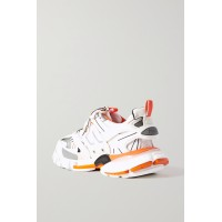 Track logo-detailed mesh and rubber sneakers White X8SBJUV5F
