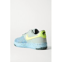 Womens Air Force 1 Crater faux leather and mesh sneakers Gray SONDC7AO2