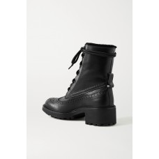 Franne shearling-lined leather ankle boots Black The Most Popular 4HIXL9XT0