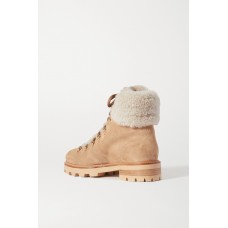 Eshe shearling-lined suede ankle boots Beige Z1LX9GZMJ