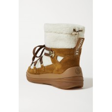 Insolux suede and shearling snow boots Tan Designer R8JMXRYSV