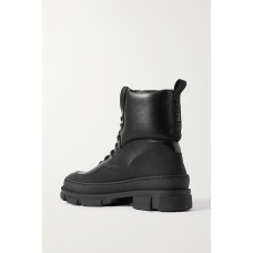 Leather and rubber ankle boots Black IEV9DJJHO