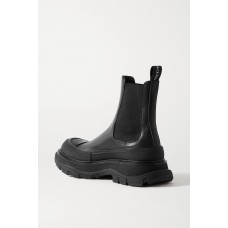 Leather exaggerated-sole Chelsea boots Black New Style TPRKUCF68