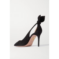 Bow Tie 85 suede pumps Black Express N12XY1CNI