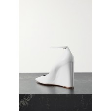 Pernille leather wedge pumps White Best WXE5GS466
