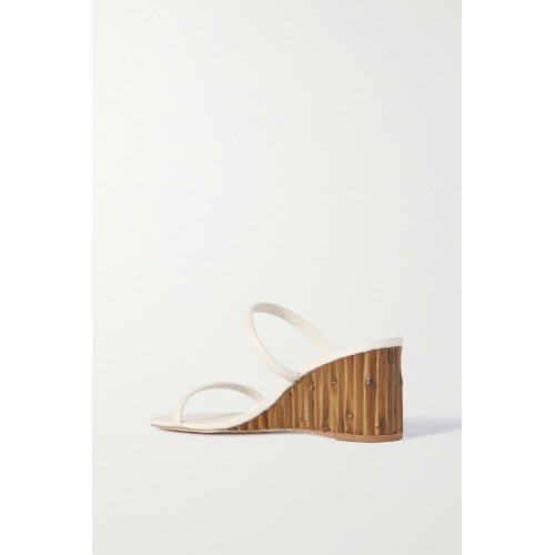 Eva leather wedge sandals Off-white Cheap YWGOLPGTN