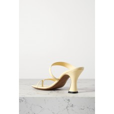 Sika leather sandals Pastel yellow most comfortable O91C6M1AT