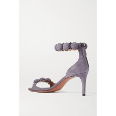Womens Bombe 75 studded suede sandals Gray new in YEHZVK5H2
